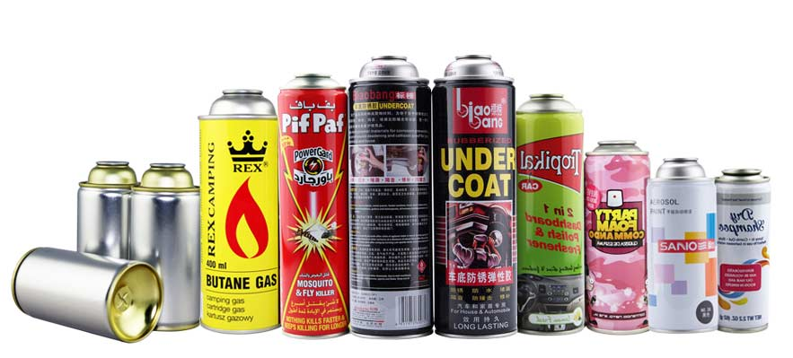 all sizes aerosol tin can