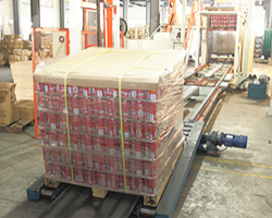 aerosol can automatic packing