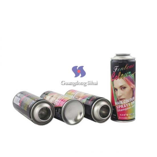transparent printing hair spray can